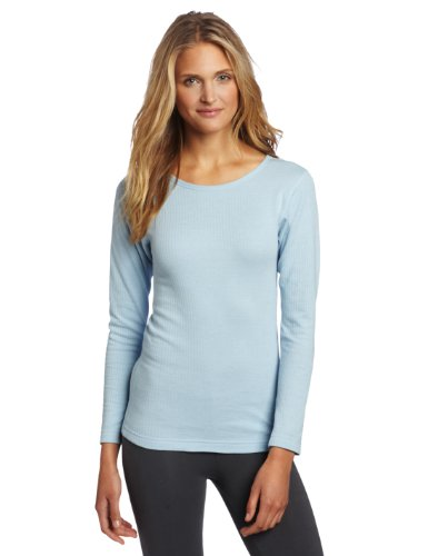 Duofold By Champion Thermals Women'S Base-Layer Shirt Thermals Blue M