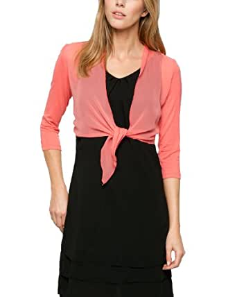 Comma Damen Bolero 89.404.31.8402, Einfarbig, Gr. 34, Rosa (lobster)