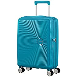 American Tourister - Soundbox Spinner Extensible, 77cm, 97/110 L - 4.2 KG, Bleu (Summer Blue)