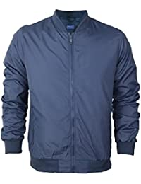 MENS LIGHTWEIGHT BOMBER JACKET MA1 STYLE FITTED HARRINGTON SHOWERPROOF LINED JACKET SIZES S M L XL