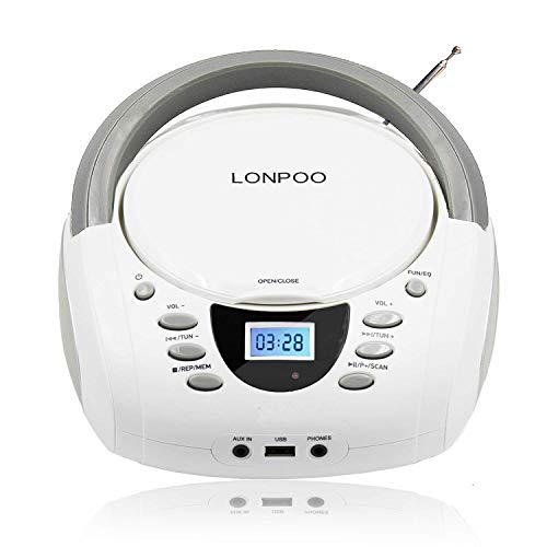 LONPOO Tragbare CD-Player für Ki...