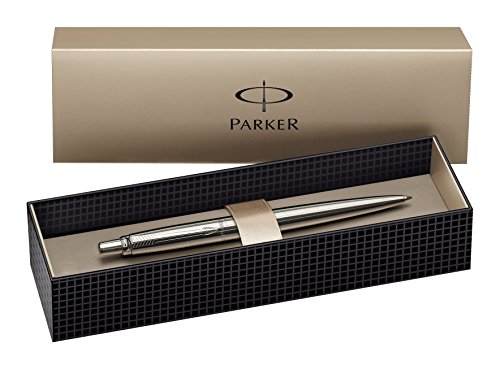 Parker Jotter Stainless Steel Chrome Trim Ballpoint Pen, Gift Boxed