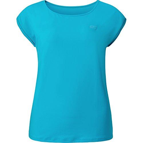 Sportkind Mädchen & Damen Tennis/Fitness/Sport Loose Fit T-Shirt, türkis, Gr. 152