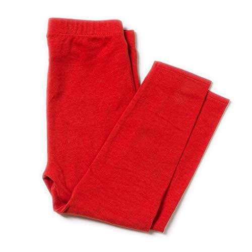 Little Green Radicals Leggings rouges en coton bio 18-24 mois