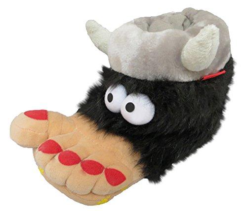Chaussons pour homme et femme fantaisie Big Foot Viking–Adulte Tailles 32–orthopédiques Noir