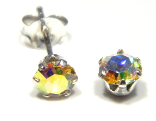 Arranview Jewellery 5mm Österreichische Kristall in Aurora Borealis -