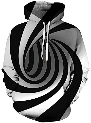 Imbry Herren Slim Fit Hoodie Long Sleeve Kapuzenpullover 3D Druck Muster Sweatshirt Pullover (2XL/3XL, Sonnenbrille-Katze)