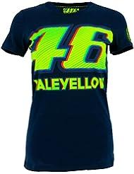 Valentino Rossi VR46 Moto GP 46 Mujer azul Camiseta Oficial 2017