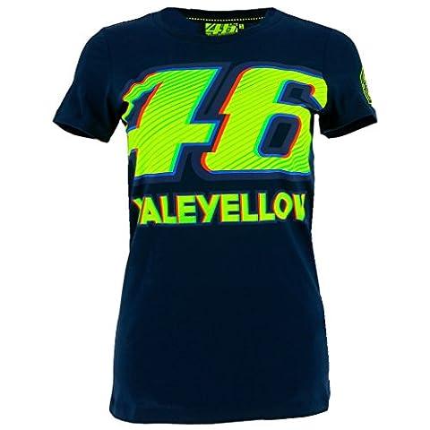 Valentino Rossi VR46 Moto GP 46 Damen blau T-shirt Offiziell 2017 (Valentino Rossi Shop)