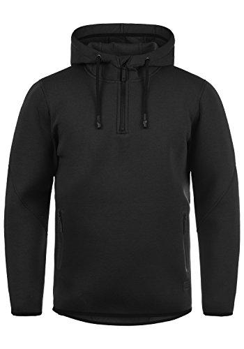 Blend Dooby Herren Kapuzenpullover Hoodie Pullover Mit Kapuze Und Reißverschluss, Größe:L, Farbe:Black (70155) - Blend Hoodie