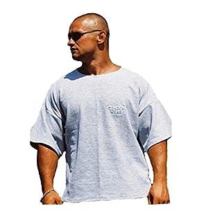 MORDEX BW T-Shirt fürs Bodybuilding, Gym, Fitness, Sport und Freizeit in versch. Farben (Grau, XXL)