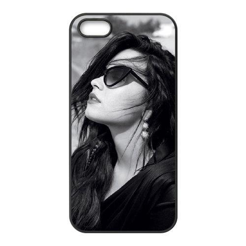 Demi Lovato coque iPhone 4 4S Housse téléphone Noir de couverture de cas coque EBDXJKNBO10765