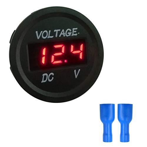 Heaviesk Misuratore di voltaggio Digitale 5-48V Display a LED Voltmetro a Pannello Digitale Voltmetro Elettrico Volt Tester per Auto Batteria Car Moto Nave Impermeab