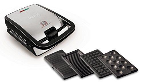 Tefal SW854D16Sandwichmaker, 700W, schwarz, Edelstahl, 2Stück, 32Stück