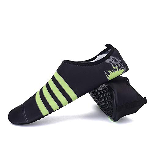 Yaoaomitn Scarpe da Yoga specifiche per Tapis roulant per la Pelle Scarpe da Corsa a Piedi Nudi magre Classico Nero 37-38