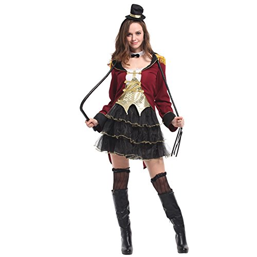 DOXUNGO Halloween Kostüm Maskerade Kleidung für Zirkus Zaubererin (M)