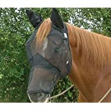 Cashel Quiet Ride Riding Fly Mask Long With Ears Draft Size by Cashel