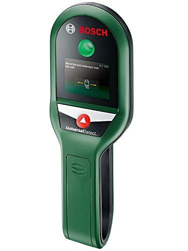 Bosch Ortungsgerät UniversalDetect (4 x AAA Batterien, Detektionstiefe Metallobjekte: 10 cm, stromführende Leitungen: 5 cm, Unterkonstruktionen in Trockenbauwänden: 2,5 cm, Karton)