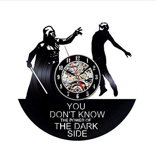 Dwthh Reloj De Vinilo Hecho A Mano Darth Vader