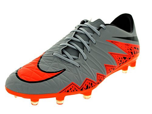 NikeHypervenom Phatal II Firm-Ground - Scarpe da Calcio Uomo Wolf Grey/Total Orange-Black