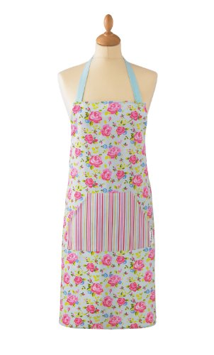 Cooksmart Vintage Floral Schürze aus Baumwolle mit Tasche