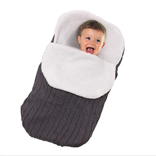 BABIFIS Neugeborenes Baby Wickeln Decke Kinderwagen Wickeln Lamm Kaschmir, Stricken weiche warme Fleece Decke Swaddle Schlafsack Schlafsack Kinderwagen