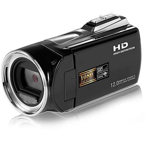 mingxiao Caméscope Full HD 1080p 2.7''LCDE Caméscope Numérique Full HD 1080p Caméscope Noir Portable Caméra Vidéo Full HD 1080p Zoom Numérique Caméra