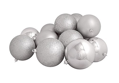 Northlight 16 Count Silver Splendor Shatterproof 4-Finish Christmas Ball Ornaments, 3 by Northlight