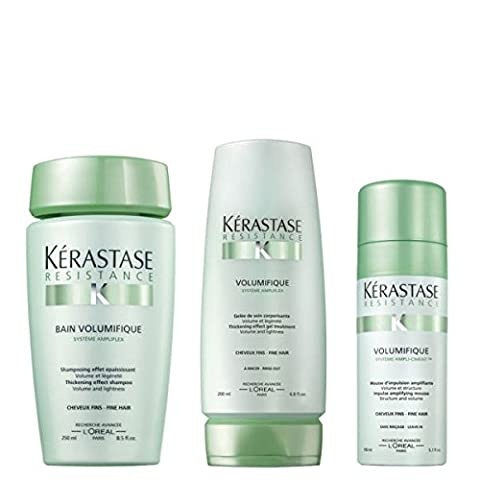 Kérastase Volumising Trio (Mousse),Resistance Volumifique Bain 250ml+ Resistance Volumifique Gelee