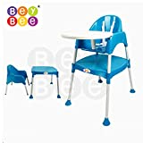 Bey Bee Baby Highchair with Tray and without Seat Pad (Blue)