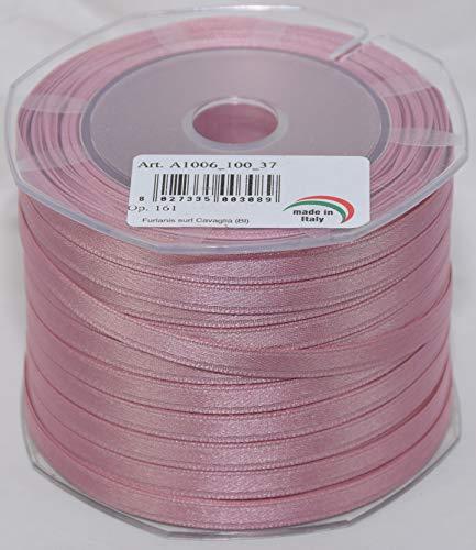 Nastro raso rosa antico alta qualitÀ made in italy per bomboniere 6 mm 100 metri