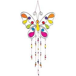 Mariposa con perlas de resina sol/39x 15cm, multicolor