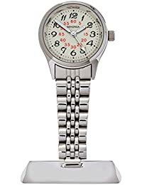 Sekonda Ladies' Quartz Watch with White Dial Analogue Display and Silver Stainless Steel Bracelet 4218.30