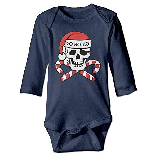 MSGDF Unisex Infant Bodysuits Pirate Girls Babysuit Long Sleeve Jumpsuit Sunsuit Outfit Navy - Pirate Low Cut
