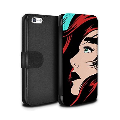 Stuff4 Coque/Etui/Housse Cuir PU Case/Cover pour Apple iPhone 5C / Pack 5pcs Design / BD Illustrés Filles Collection Cheveux Roux