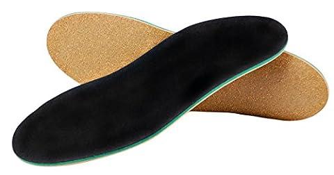 Orthopädische Schuh-Einlage für Plattfuß und Knickfuß mit Spreiz-Fuß-Stütze und Dämpfungs-Polster, Hand-Made in Germany von Green-Feet (Schuh-Größe: 43-44, Low Arch = flaches Gewölbe)