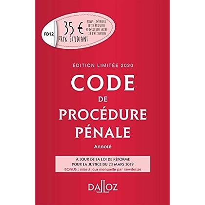 Code de procédure pénale 2020 annoté. Édition limitée - 61e éd.