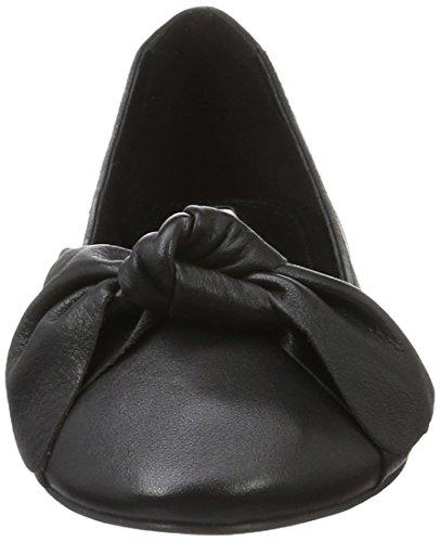 Buffalo London 216-1415-4 Sheep Leather, Ballerine Donna Nero (BLACK 01)