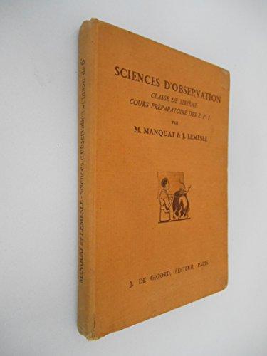 Sciences d'observation classe 6ème CP des EPS / Manquat/ Lemesle / Réf23302