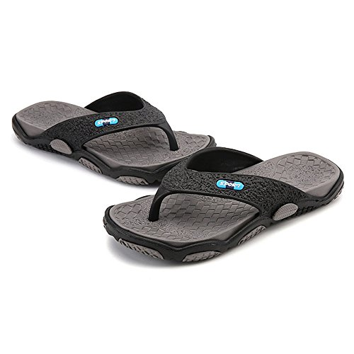 ZHANGRONG-- Slipper in gomma da uomo, comoda scarpetta da spiaggia, antiscivolo ( Colore : C ) D