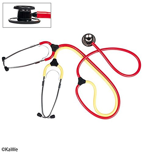 Schwestern-Lehr-Stethoskop Duo rot-gelb