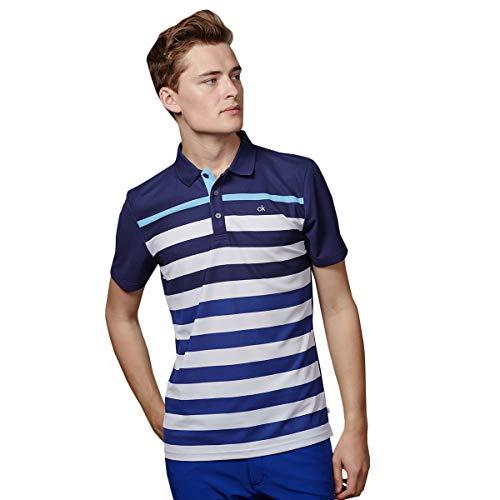 Calvin Klein Herren Velocity Polo-Hemd - Marine - L (Calvin Hemd Klein)