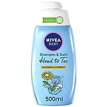 NIVEA Baby, Head to Toe Shampoo & Bath with Calendula Extract, 500ml