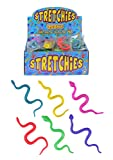 12 Stretchy Snakes - Assorted Colours