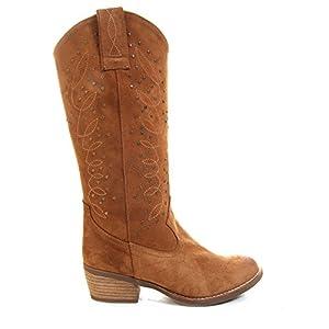 Buylevard Botas Camperas tachuelas Cowboy Ante