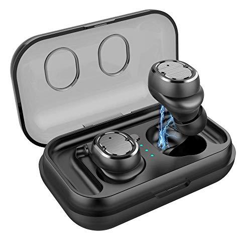 SULGR TWS Touch Bluetooth Headset 5.0 Voice Call IPx5 wasserdicht und schweißfest Lange Akkulaufzeit Sport Running Headset Universal (30 Call-kugeln)