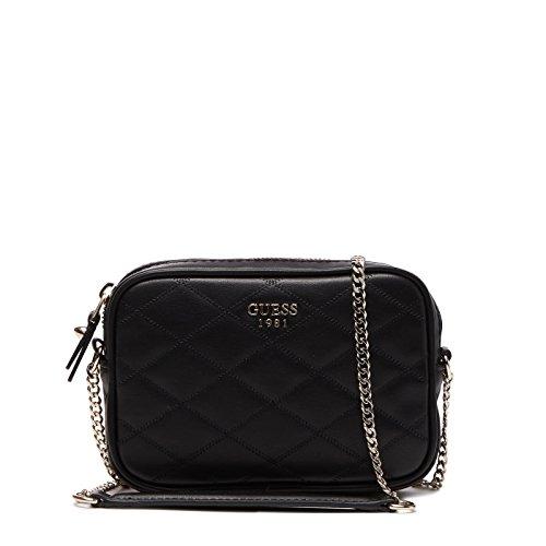 Guess Damen Bags Hobo Umhängetasche, Schwarz (Black), 4.5x12x18.5 centimeters (Hobo Taschen Guess)
