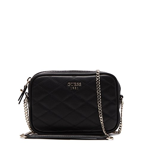 Guess Damen Bags Hobo Umhängetasche, Schwarz (Black), 4.5x12x18.5 centimeters (Hobo-handtasche Guess)