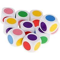 10 Piezas / Conjunto Juegos de Mesa Aprendizaje 16mm Dados en Cuadritos de 6 Colores