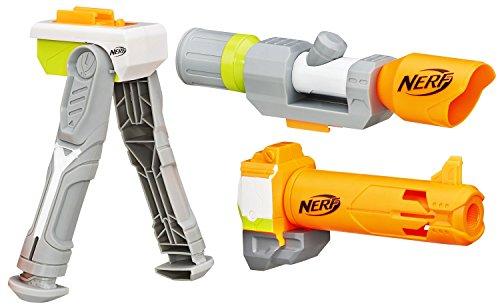 Nerf Modulus Long Range Kit - Set mit Zweibein, Scope und Reichweitenlauf - in Recycling-Verpackung (Integrierte Nerf Guns)